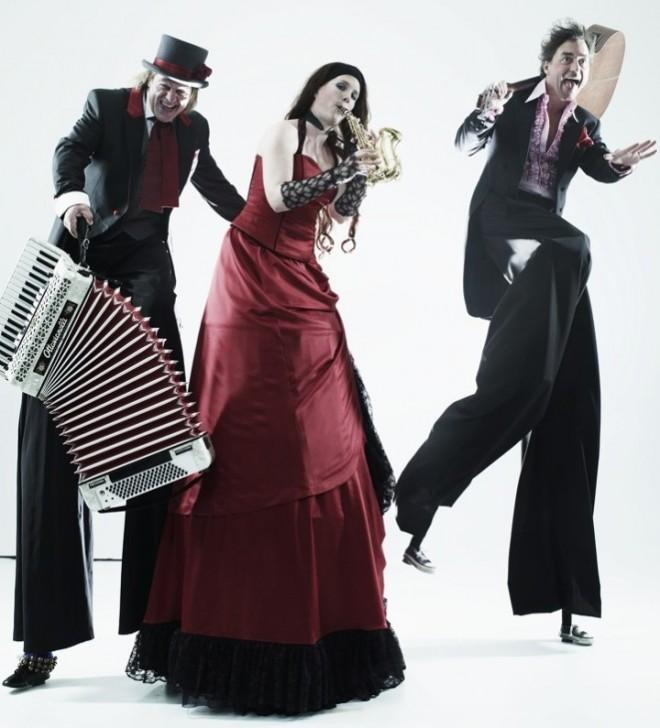 Stelzenläuferkostüm für Trio Grande